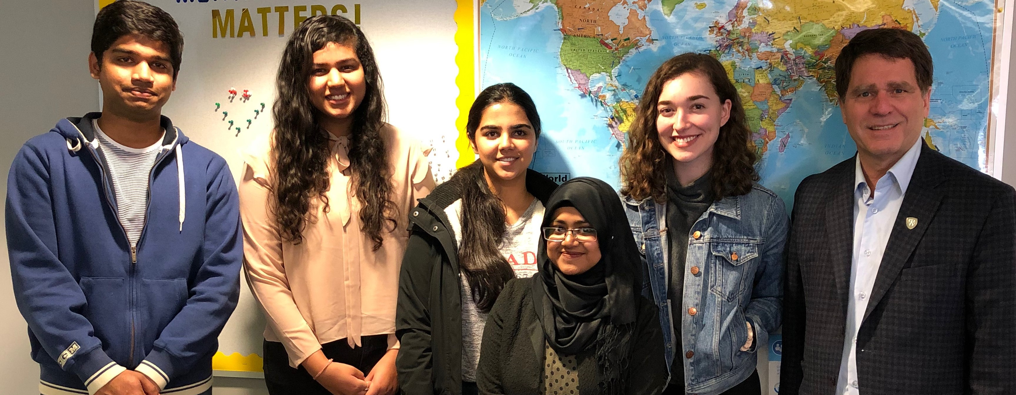Dr. Smith with members of the International Student Learning Community, March 2019