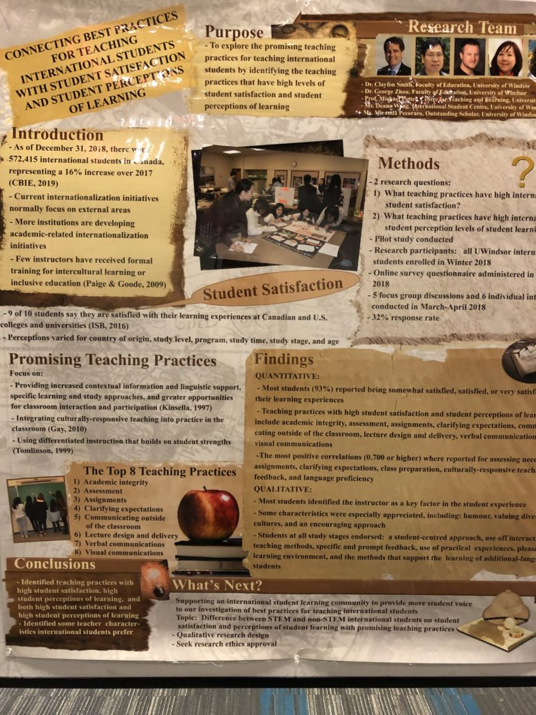 Poster presented at the STLHE conference